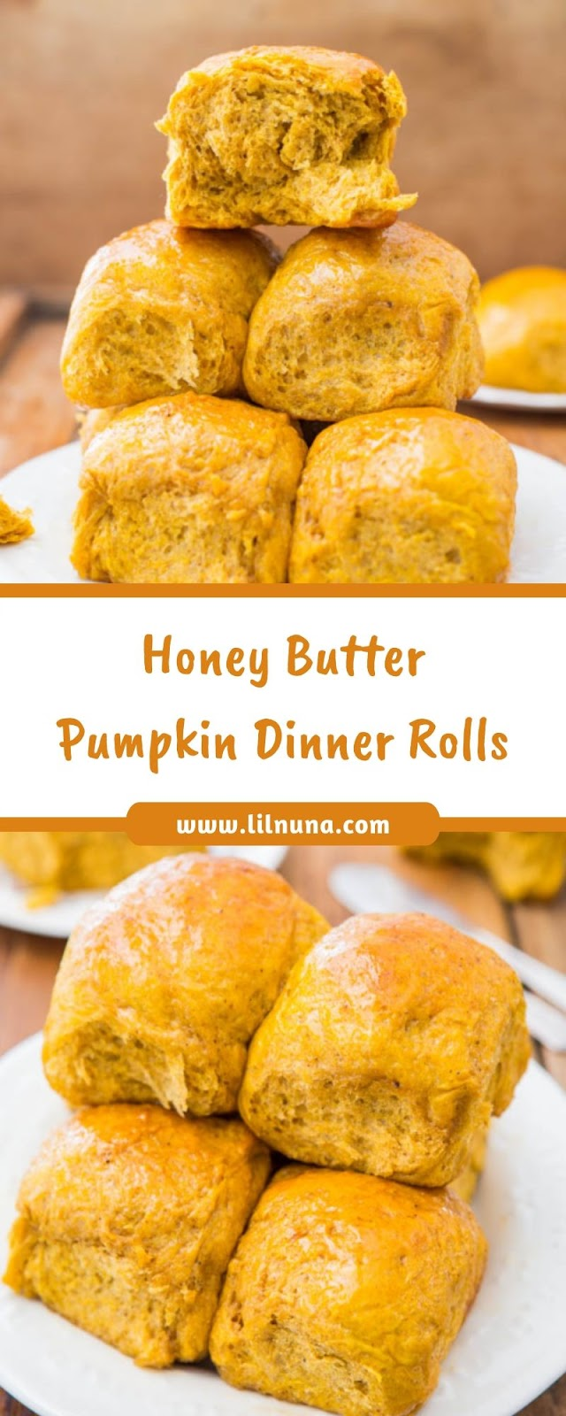 Honey Butter Pumpkin Dinner Rolls