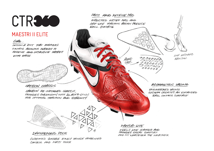 a8cb5acce66 Samuel Umtiti showed off the launch colorway of the second-gen Nike CTR360  football boots