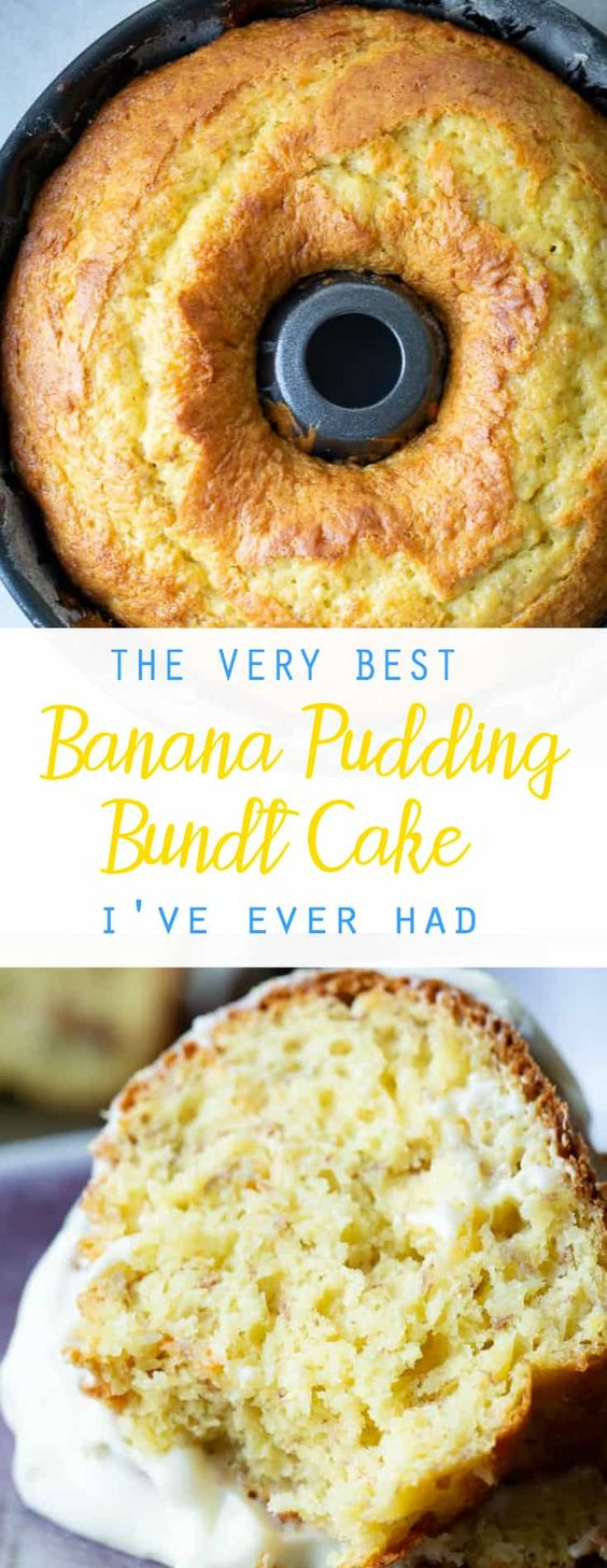 THE VERY BEST BANANA PUDDING BUNDT CAKE