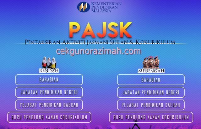 pajsk, pengisian markah online pajsk, markah online