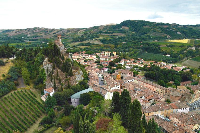 Widok na miasteczko Brisighella