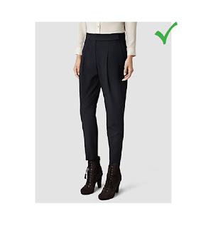 Укороченные брюки удлиняющие ногу