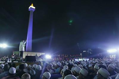 Peringatan Isra Mi'raj yang digelar Majelis Rasulullah di Lapangan Monas, dipuji Anies Baswedan