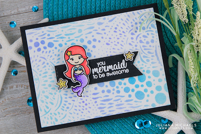 Sunny Studio Stamps: Magical Mermaids & Oceans Of Joy Guest Designer Cards by Juliana Michaels