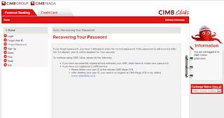 cara ganti password cimbclicks