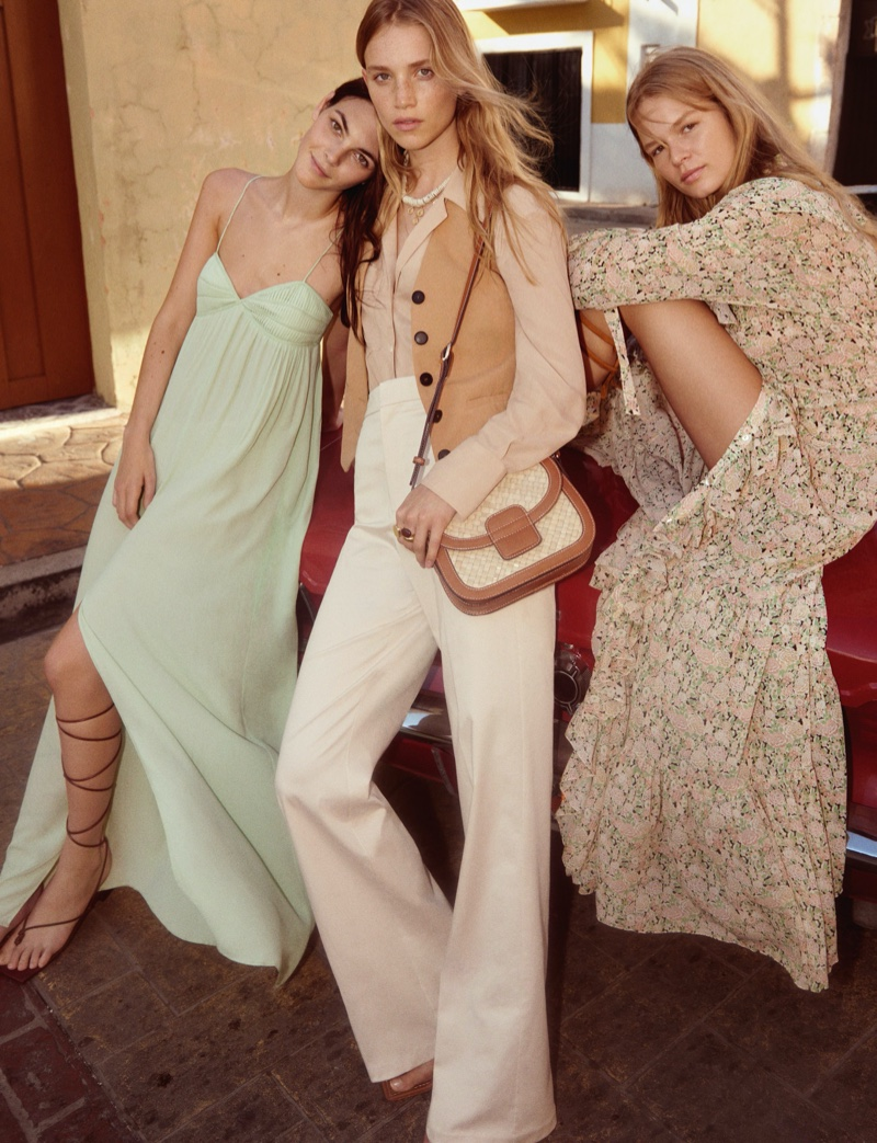 Vittoria Ceretti, Rebecca Leigh Longendyke and Anna Ewers appear in Mango spring-summer 2020 campaign