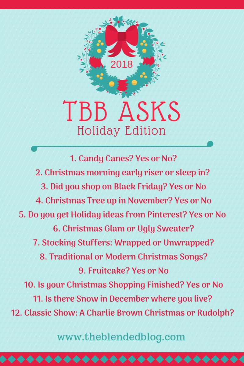 TBB Asks - Holiday Edition