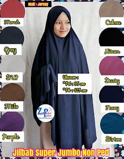 jilbab haji umroh super jumbo jersey