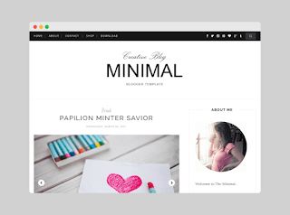 Minimal clean blogger Template Download |