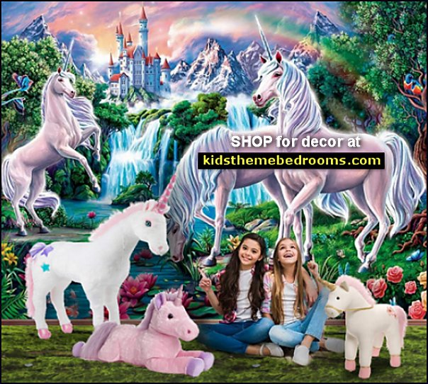 UNICORN BEDROOM DECOR unicorn murals unicorn plush toys