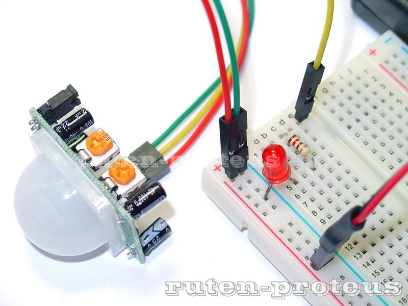 ㄆㄜ ㄊㄧㄡ ㄙˋ: [PIR] 簡易人體紅外線感應 (PIR) 模組測試電路