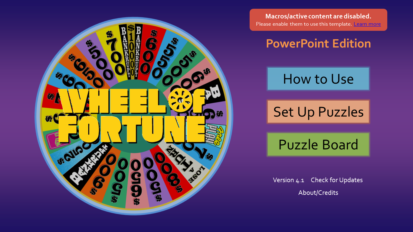 Wheel of Fortune for PowerPoint - Games by Tim - Page 2 WoFMacroDisabled