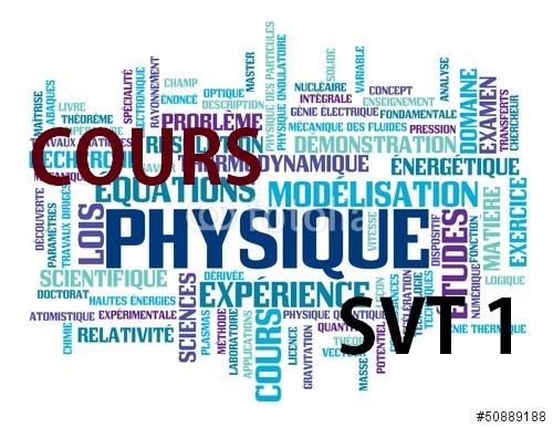 Cour Physique I: Optique -  Physique nucléaire - Thermodynamique  SVT S1 PDF