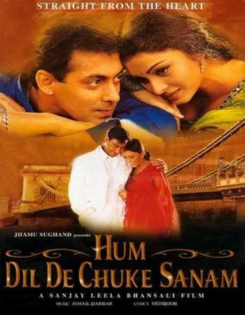 Poster Of Hum Dil De Chuke Sanam 1999 Hindi 550MB DVDRip 720p HEVC Watch Online Free Download Worldfree4u