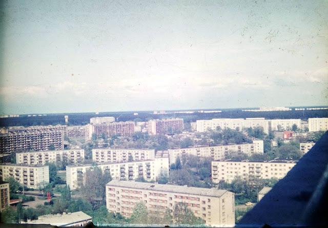1984 год. Рига. Пурвциемс. Снимок сделан с 18-ти этажки на улице Мадонас, 23