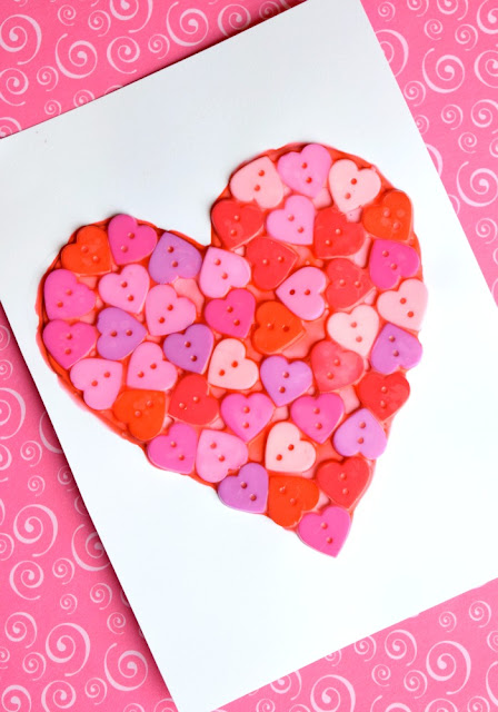 Cute As A Button Valentine Craft for Preschoolers
