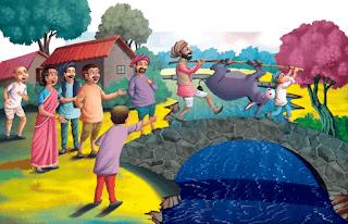 قصة اطفال قصيرة من قصص جحا وابنه والحمار