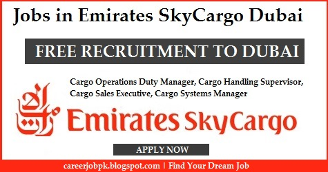Latest jobs in Emirates SkyCargo Dubai