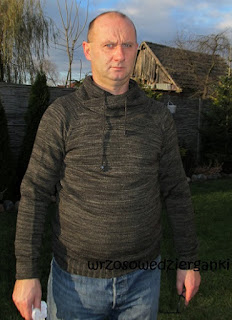 Męski sweter-bluza czyli moja wersja Cosy Hubby