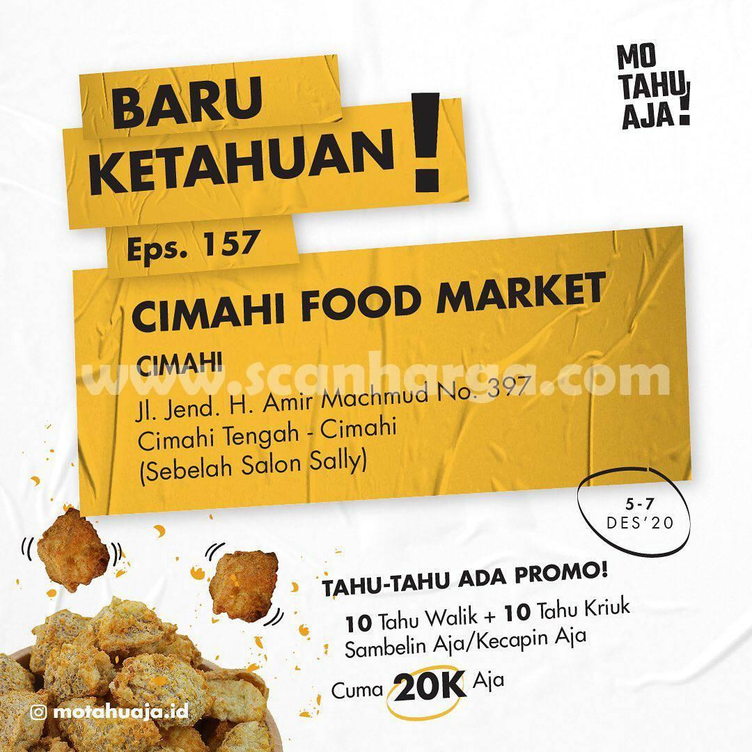 MO TAHU AJA Cimahi Food Market Opening Promo Paket 20 Tahu cuma Rp 20.000