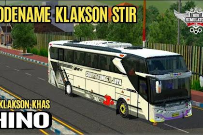Kode Name Klakson Stir Khas Hino BUSSID 3.5