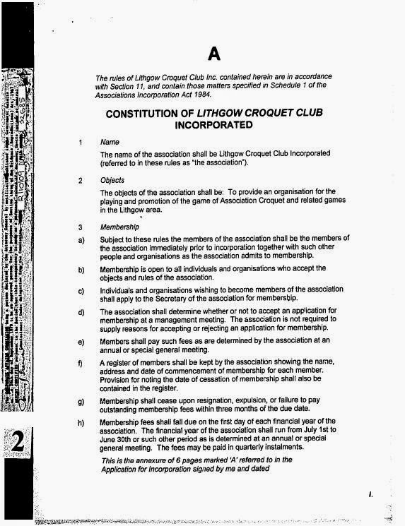 Sports Club Constitution Template buy short form of subcontract – Club Bylaws Template