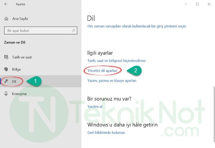 Windows 10 Türkçe Yapma