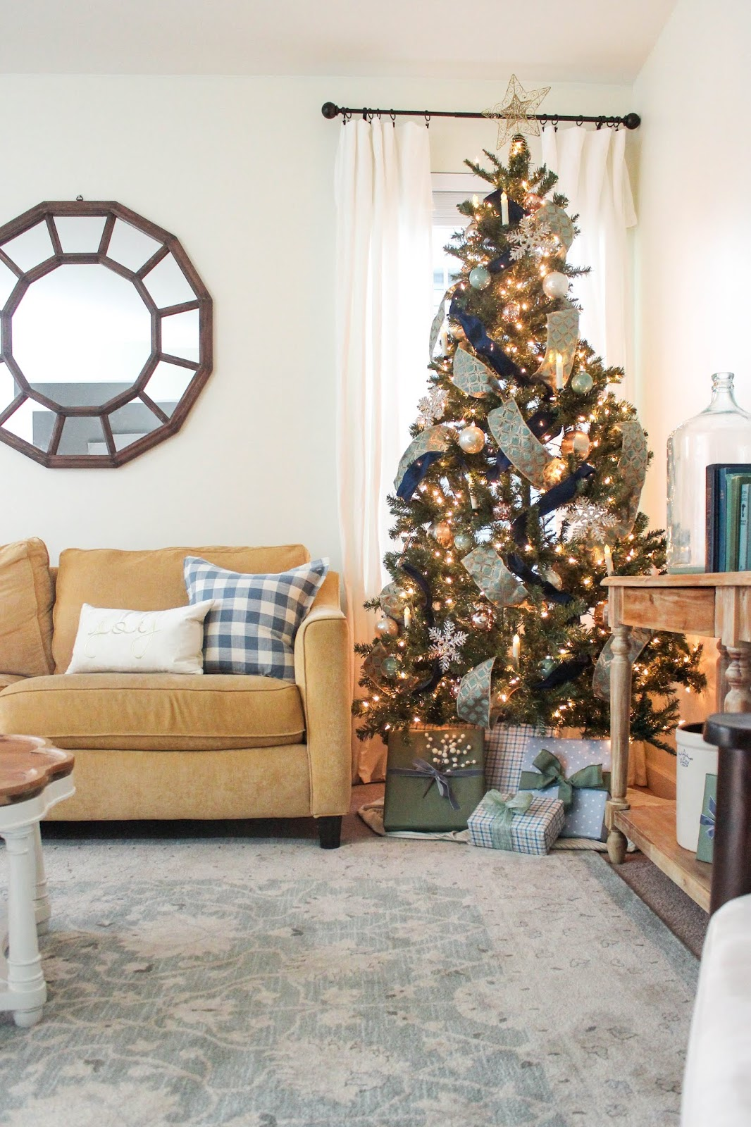 blue and green christmas decor ideas