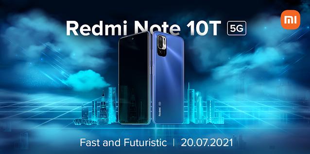 سيتم الكشف عن هاتف Redmi Note 10T 5G في 20 يوليو في الهند