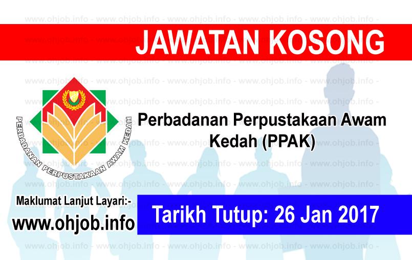 Jawatan Kerja Kosong Perbadanan Perpustakaan Awam Kedah (PPAK) logo www.ohjob.info januari 2017