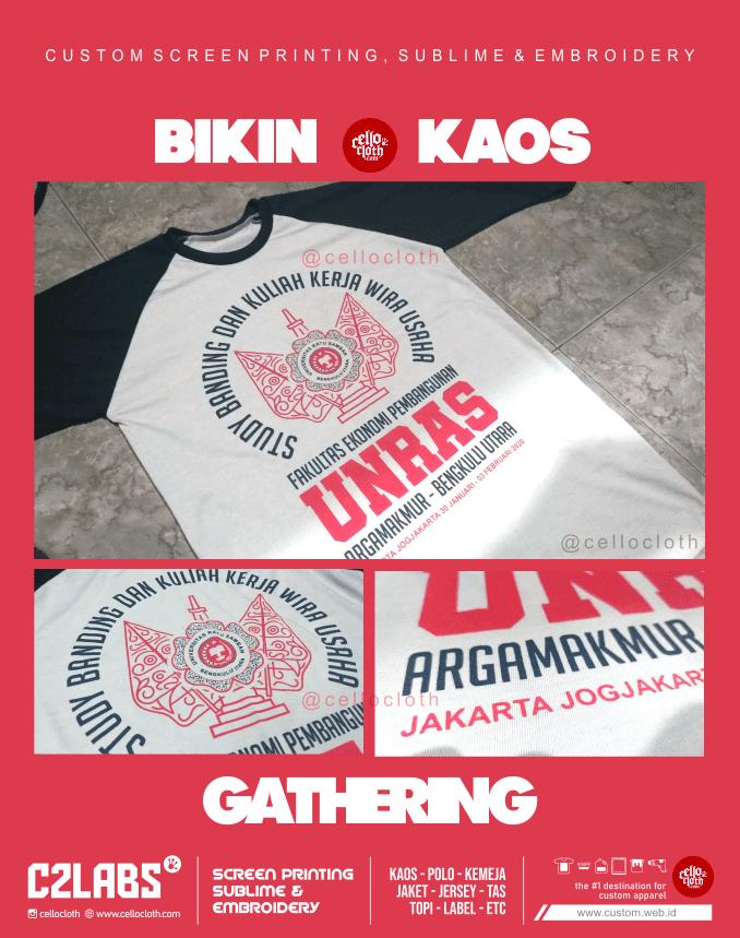 Kaos Unras Bengkulu Utara Sablon Kaos Gathering - Jogja Sablon
