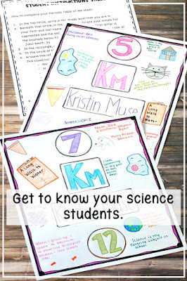 Help your science students feel comfortable by getting to know more about their personal lives through authentic science materials.