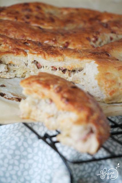 Fougasse Magique Jambon Fromage Baguette magique Recette facile Idée recette rapide Boulangerie