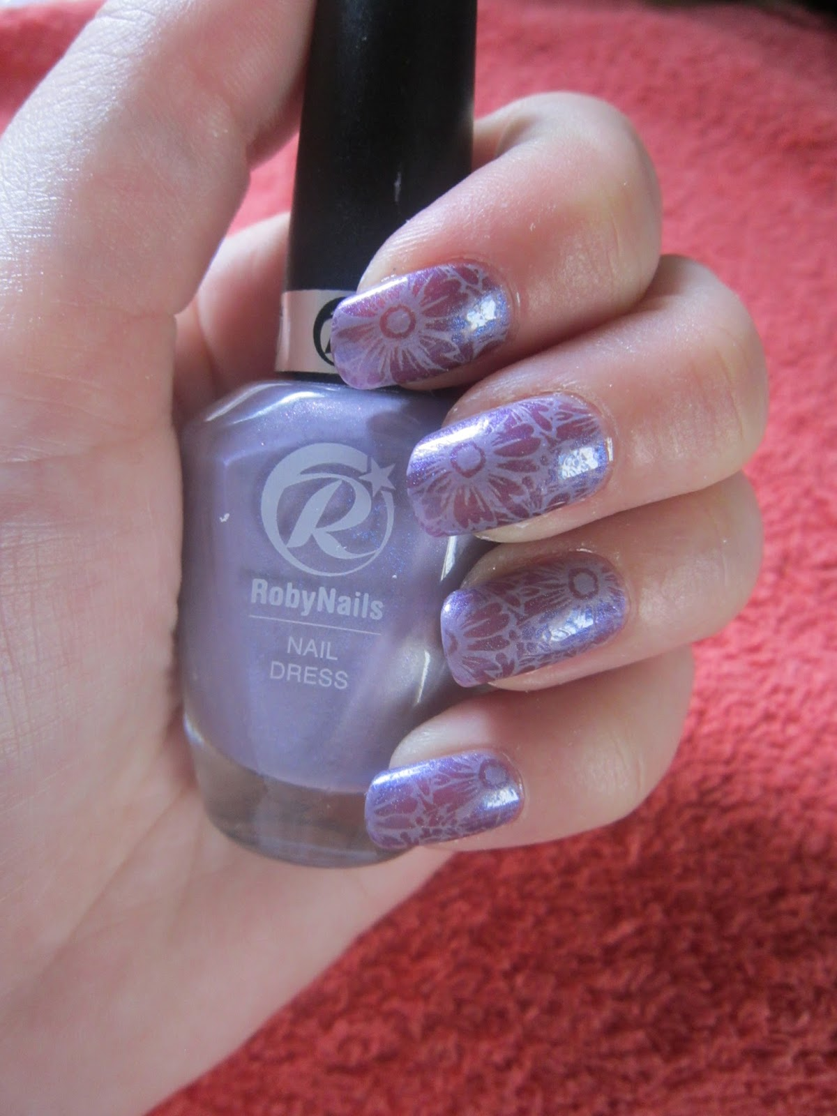 The Fabulous of Life by Ramona: Nail art Purple Summer Flowers