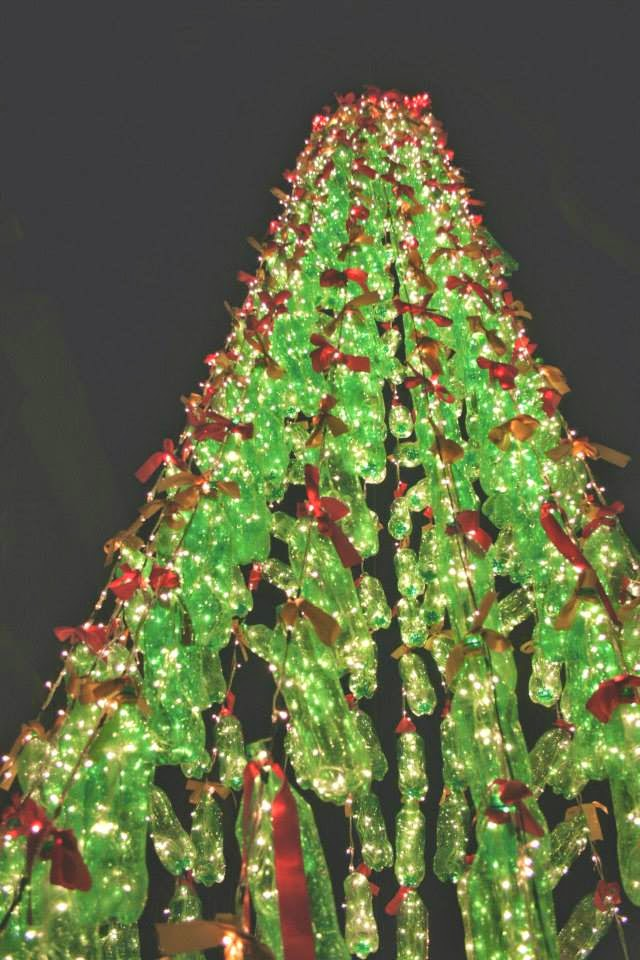 2 Litre Soft Drink Bottles For A 25 Ft Christmas Tree And Paper Cups The Wreaths Snowflakes Location Mar Thoma Church Primrose Road Bangalore