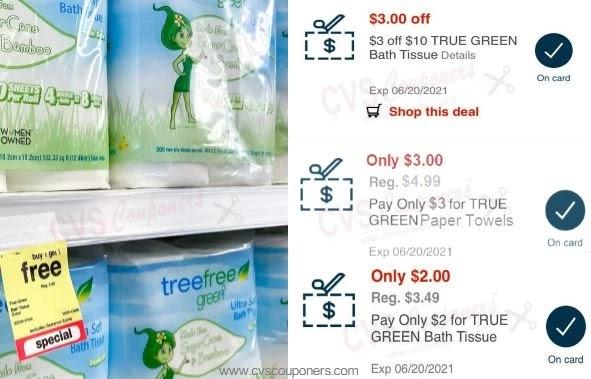 cvs couponers true green paper towels & toilet paper deals