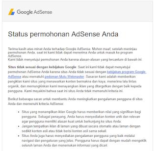 mendaftar Google Adsense pasti diterima - Adsense - Ditolak