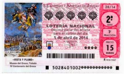 Décimo de lotería y partes que lo forman