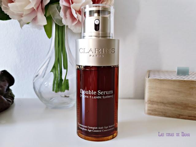 Nuevo formato Double Serum Clarins skincare cuidado facial beauty belleza cosmética