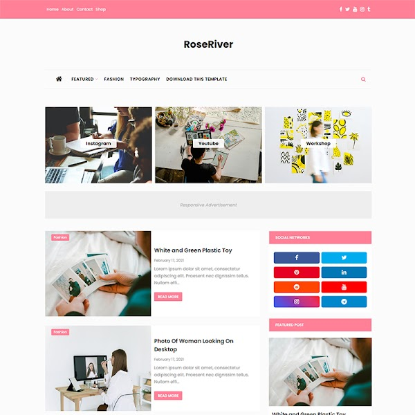 RoseRiver - Fashion & Beauty Responsive Blogger Template