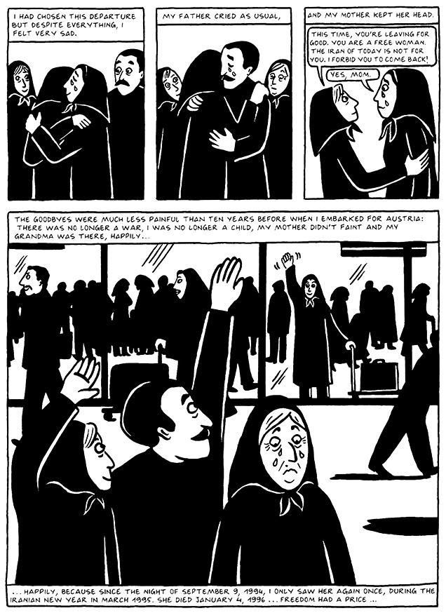 Read Chapter 19 - The End, page 187, from Marjane Satrapi's Persepolis 2 - The Story of a Return