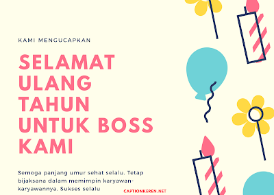 kata-kata ucapan ulang tahun untuk bos