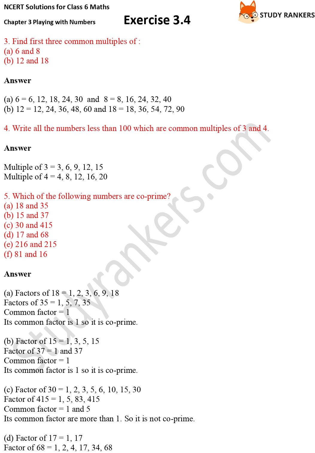 NCERT Solutions for Class 6 Maths Chapter 3 Playing with Numbers Exercise 3.4 Part 2