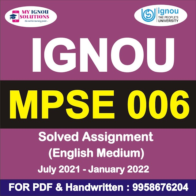 MPSE 006 Solved Assignment 2021-22