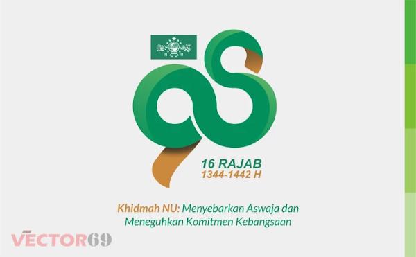 Harlah NU ke-98 16 Rajab 1442 H Tahun 2021 Logo - Download Vector File CDR (CorelDraw)