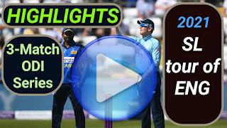 England vs Sri Lanka ODI Series 2021