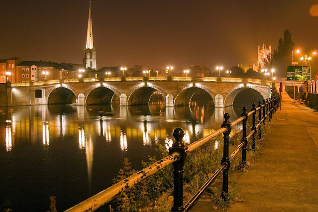 River Severn, Bridge and Cathedral UK