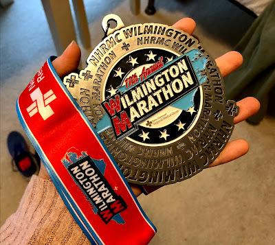 Wilmington Marathon medal