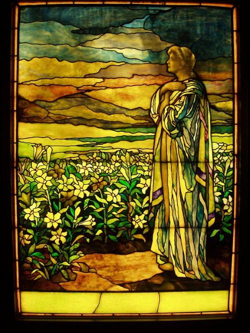 Campo de lírios - Field of Lilies - Tiffany Studios, c. 1910.