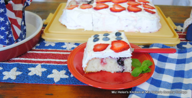 Old Glory Berry Cake at Miz Helen's Country Cottage